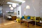 Loft, salon w stylu industrialnym